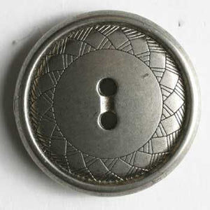 Dull Silver Full Metal Button