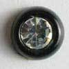 Black Polyamide Button With Rhinestone