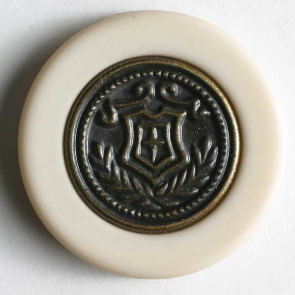 Beige Polyamide Button
