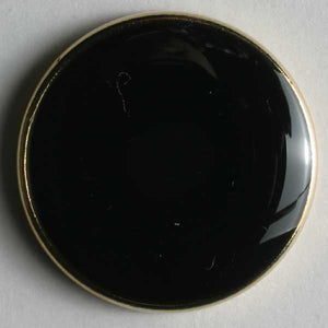 Black Full Metal Enamelled Button