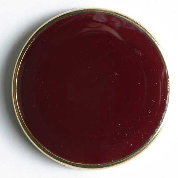 Wine Red Full Metal Enamelled Button