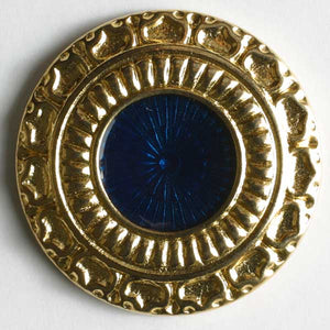 Navy Blue Full Metal Enamelled Button