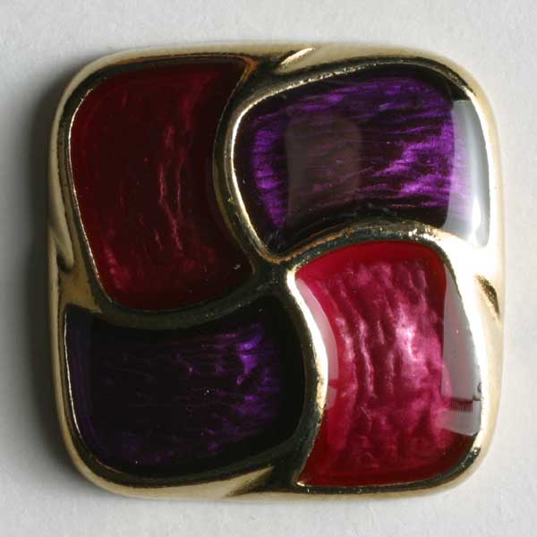 Lilac Full Metal Enamelled Button