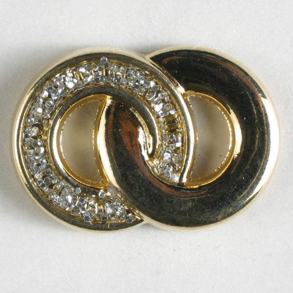Gold Plated Full Metal Enamelled Button