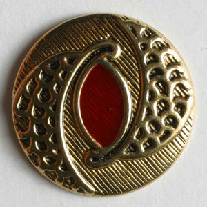 Red Full Metal Enamelled Button