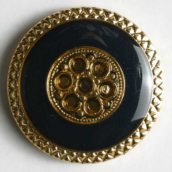 Navy Blue Abs Enamelled Button