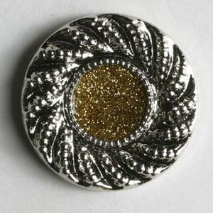 Silver Abs Enamelled Button