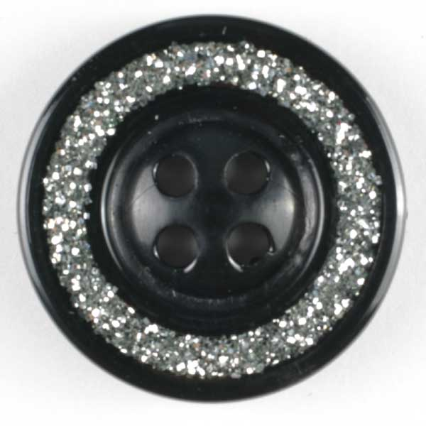 Black Abs Enamelled Button