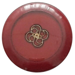 Wine Red Abs Enamelled Button