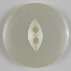 White Polyester Button