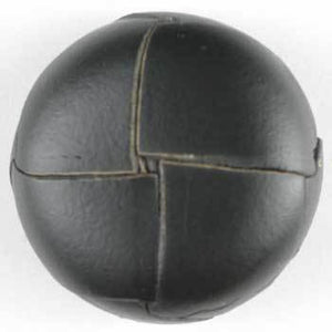 Black Genuine Leather Button