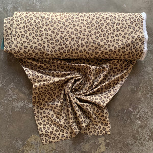 Animal Skin Cotton Double Gauze Fabric - Cheetah