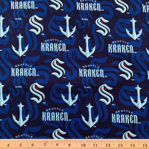 NHL Seattle Kraken Cotton Fabric