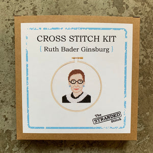 RBG Ruth Bader Ginsburg Cross Stitch Kit