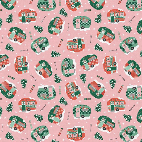 Home for the Christmas Campers Park Cotton Fabric