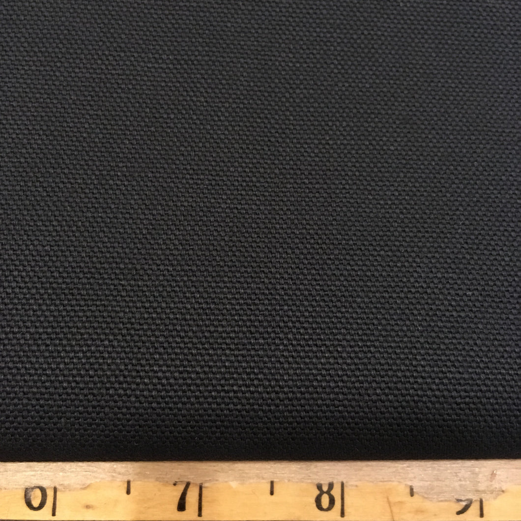 Canvas Duck Cotton Fabric - Black