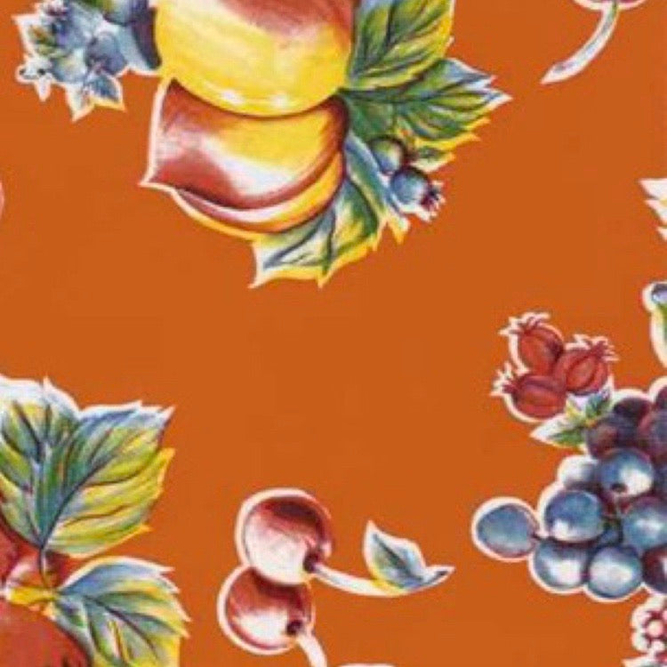 Pears & Apples Oilcloth - Orange