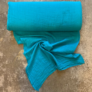 Embrace Solid Cotton Double Gauze - Teal