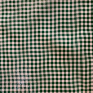 Gingham Oilcloth Fabric - Green