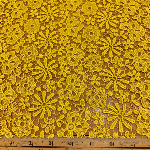 Embroidered Galloon French Lace - Yellow