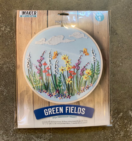 Green Fields Embroidery Kit