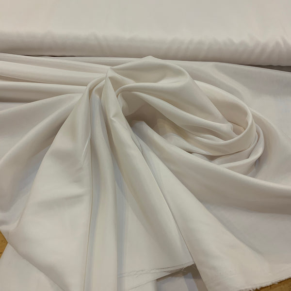 Pongee Polyester Lining - White