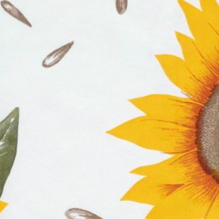Sunflower Oilcloth Fabric - Yellow