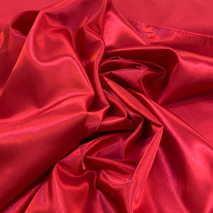 Satalure Polyester Satin - Red