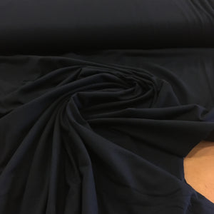 Yoga Cloth Cotton Spandex Stretch Fabric - Black