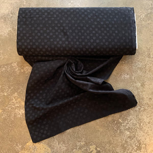 Embossed Cotton Fabric - Small Dot Black