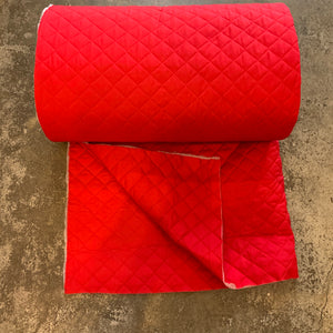 Quilted Broadcloth Back to Back - Red
