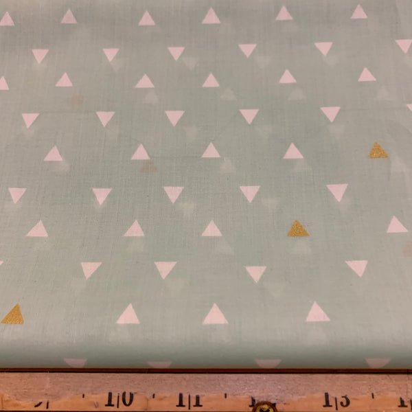 Triangle Tokens Metallic Cotton Voile