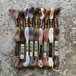 DMC 6 Strand Embroidery Floss Assortment - Neutral