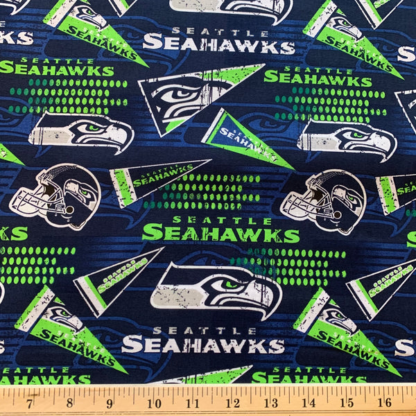 NFL Seattle Seahawks Retro Cotton Fabric