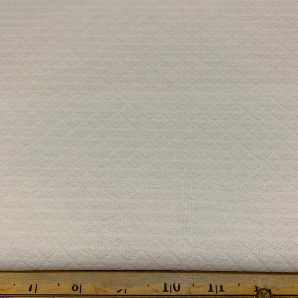 On Point Double Woven Cotton Fabric - White