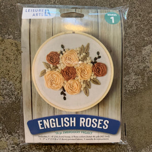 English Roses Embroidery Kit
