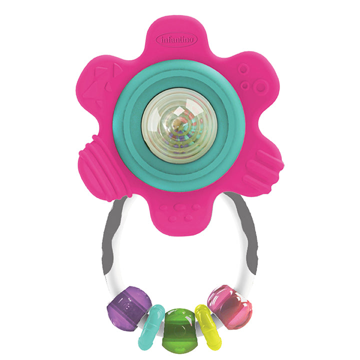 Spin & Teethe Gummy Flower Rattle™