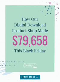 How Our Digital Download Product Shop Made $79,658 this Black Friday