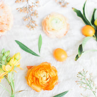 orange and yellow flowers contract template