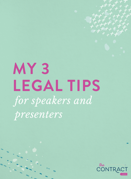 legal tips for speakers