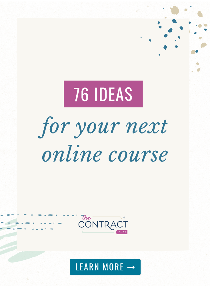 76 Course Topic Ideas for Creative Entrepreneurs