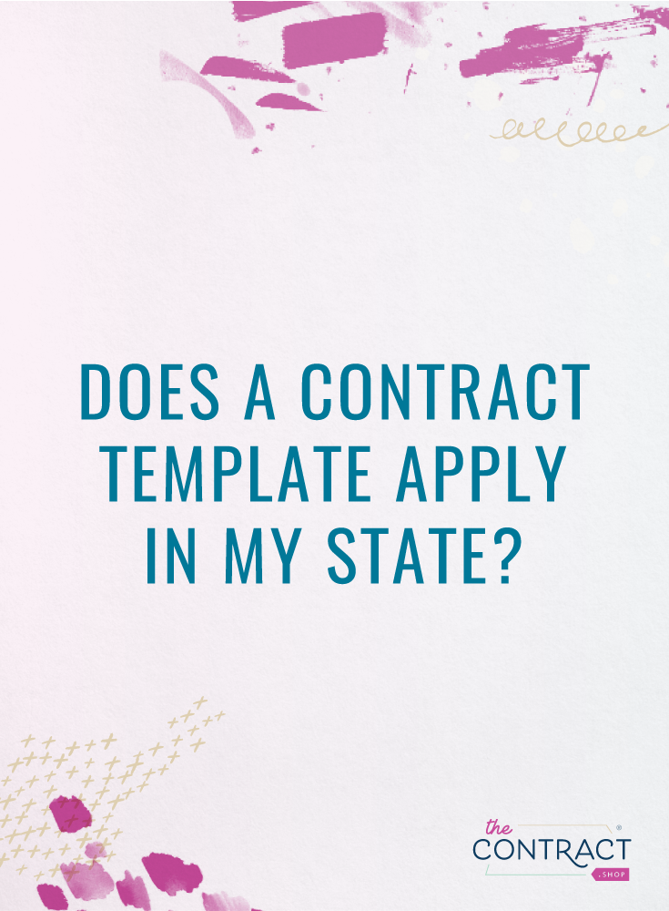 contract templates state law