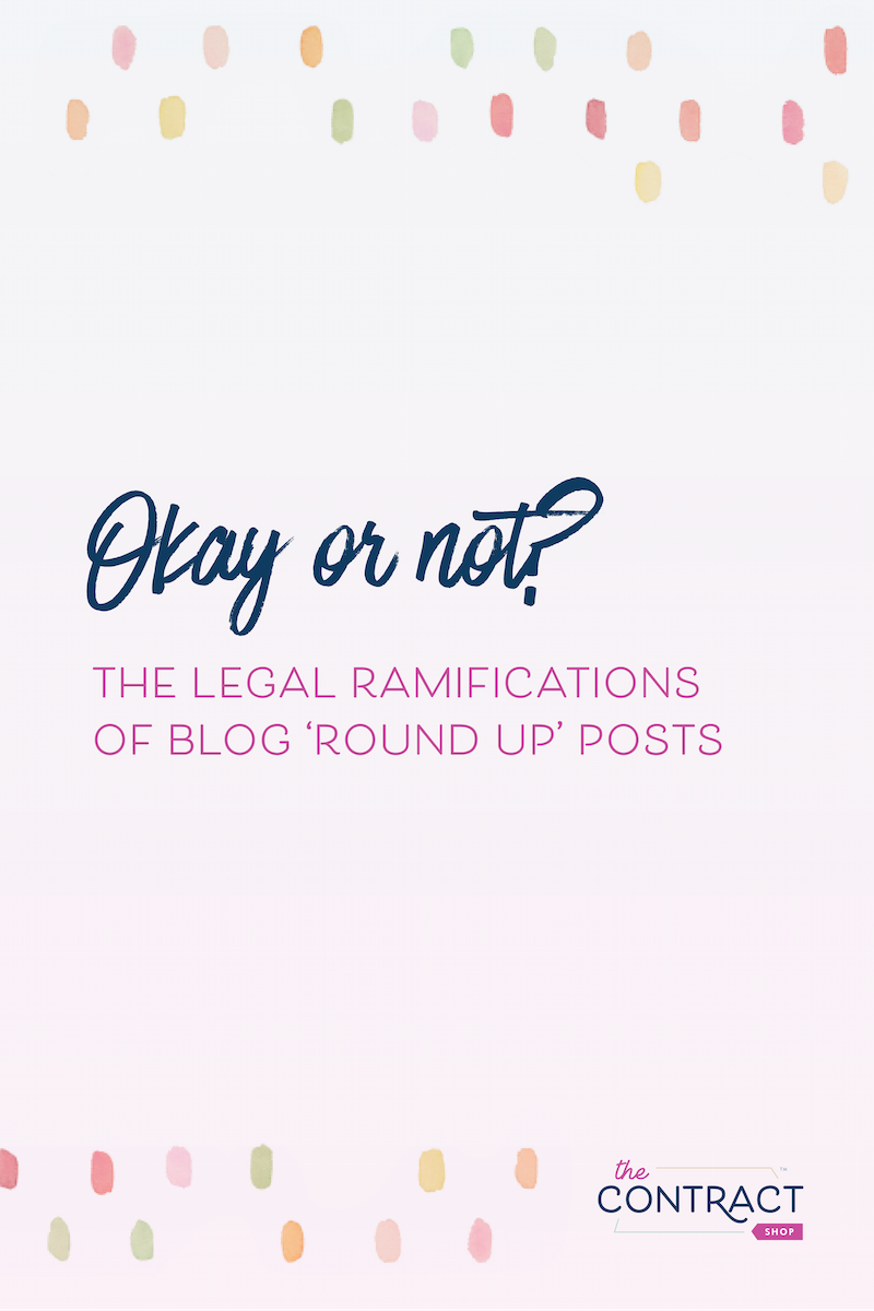 "Creating a ""Top 10"" blog post? Here are the legal things you need to know. #legal #creative #business"