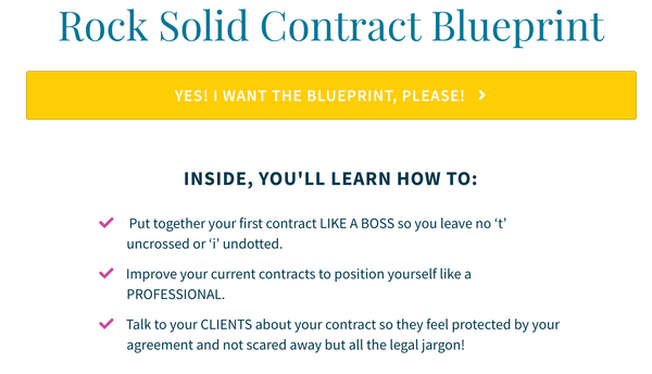 Rock Solid Contract checklist for client service providers in the creative and wedding industry
