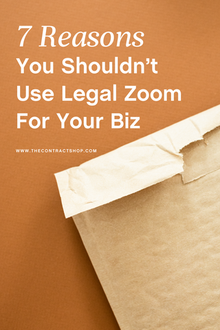7 reasons you shouldn't use legal zoom for your biz