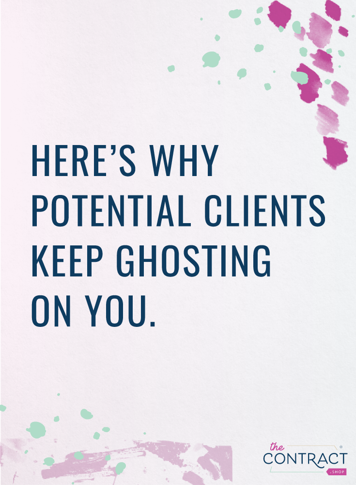 clients disappear when you send a contract