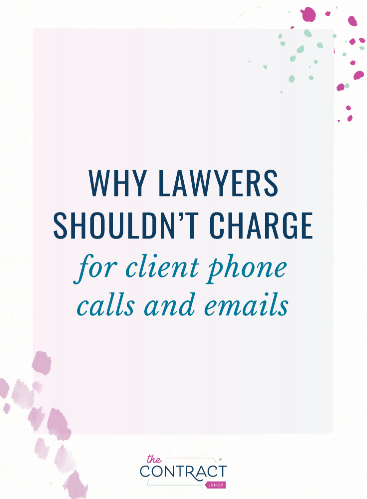 stop charging your clients for every little thing