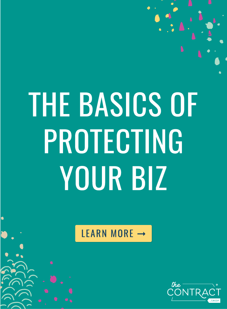 These are the most important legal elements of your business, and you should make sure you have them in place ASAP.  | The Contract Shop | #creativeentrepreneur #smallbusiness #contractsforall #entrepreneurs #legaltipsforcreatives
