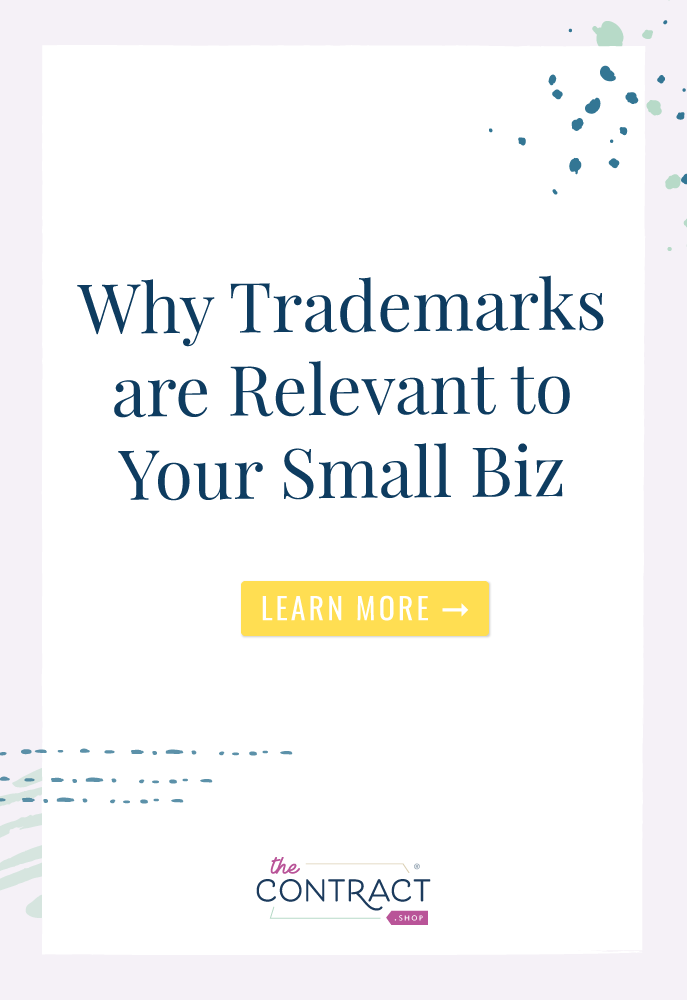 All those fancy ™ and Ⓡ marks might seem like they are only for multi-million dollar, big-name players, but the truth is that every entrepreneur (big or small) ought to be thinking about how they can protect their unique business identities by registering a trademark for your business.  | The Contract Shop | #creativeentrepreneur #smallbusiness #contractsforall #entrepreneurs #legaltipsforcreatives #trademarks