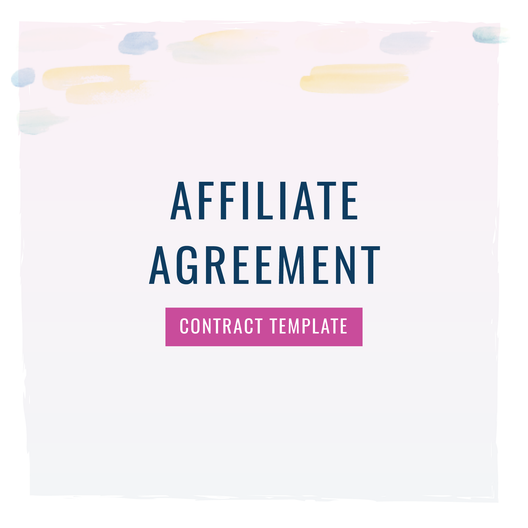 Affiliate Agreement Contract Template